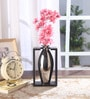 White Fabric Tall Stylish Flower Vase in Frame by Fourwalls