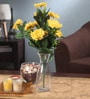 Yellow Fabric Artificial Chrysanthemum Flower Bunch by Fourwalls