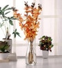 Fourwalls Yellow Synthetic Artificial Mokara Orchid Flowers Stem - Set of 4