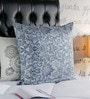 Foyer Blue Silk 20 x 20 Inch Printed Cushion Cover