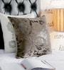 Foyer Brown Velvet 16 x 16 Inch Vir Cushion Cover
