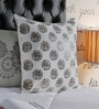 Foyer Off White Cotton 20 x 20 Inch Enora Cushion Cover