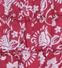 Red Cotton Queen Size Quilt by Foyer