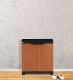 Freedom Mini Shoe Cabinet in Rust & Weather Brown Colour
