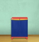 Freedom Small Cabinet in Red & Blue Colour