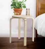 Frosta Stool in Natural Birch Finish