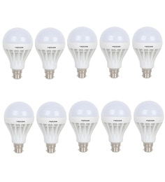 Frazzer White 12W Led Bulb (Set Of 10)