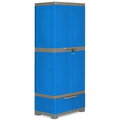 Freedom Multipurpose Cabinet With One Drawer In Blue & Grey Color