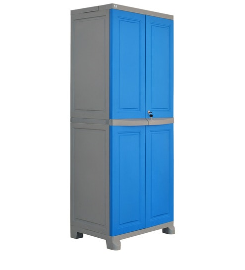 Freedom Big Storage Cabinet In Dark Blue U0026 Grey Colour By Nilkamal