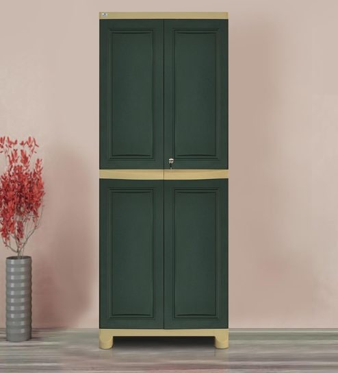 Perfect Freedom Big Storage Cabinet In Pastle Green U0026 Olive Green Colour By Nilkamal