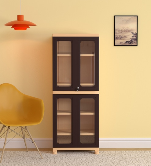 Freedom Big 1 Storage Cabinet in Weathered Brown & Biscuit Colour by  Nilkamal