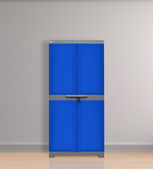 Freedom Medium Storage Cabinet In Dark Blue Grey Colour By Nill