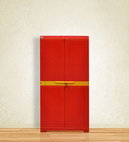 Buy Freedom Mini Medium Storage Cabinet in Red & Yellow Colour by ...