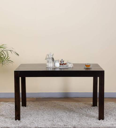 Freemont Six Seater Dining Table In Warm Chestnut Finish