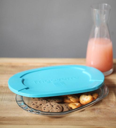 Bormioli Rocco Blue Lid Oval Container Inch By Bormioli Rocco - Invoice maker free download rocco online store