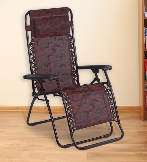 Frolic Easy Foldable Chair In Purple U0026 Red Colour By Nilkamal