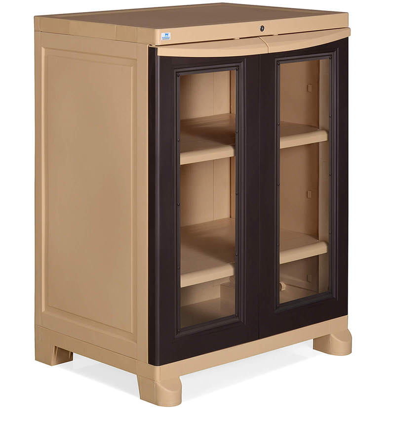 Buy Freedom Cabinet In Weather Brown & Biscuit Colour By