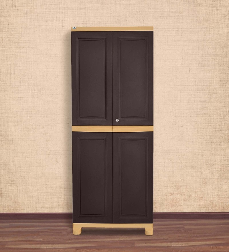 Freedom Large Cabinet in Weather Brown Colour by Nilkamal