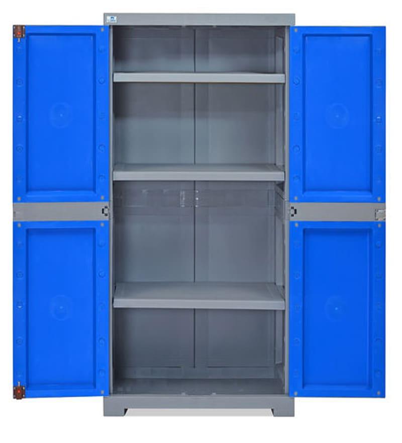 Buy Freedom Medium Storage Cabinet in Dark Blue & Grey Colour by ...