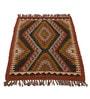 Carpet Overseas Multicolour Jute 32 x 47 Inch Kilim Design Dhurrie