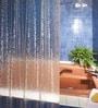 Freelance Krackle Transparent PVC Shower Curtain