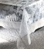 Freelance White Lace Edge PVC 108 x 60 Inch Table Cover