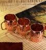 Frestol Copper 500 ML Designer Cup - Set of 3