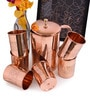 Frestol Embossed Copper Jug & Glasses - Set of 7