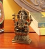 Frestol Golden Brass Antique Diamond Cutting Ganesh