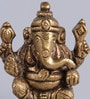 Frestol Golden Brass Antique Platted Ganesh