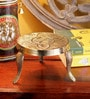 Frestol Golden Brass Pooja Chowki