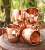 Frestol Handmade Copper & Steel 500 ML Cup - Set of 6