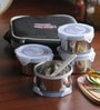 Friends Real Food Grey Stainless Steel 300 ML Lunch Box - Set of 4