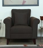 Fuego One Seater Sofa in Chestnut Brown Colour