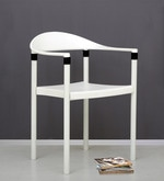 Furry Metal Chair in White Colour