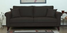 Fuego Three Seater Sofa in Chestnut Brown Colour