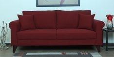Fuego Three Seater Sofa in Garnet Red Colour
