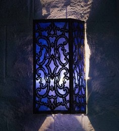 Furncoms Blue Metal Wall Light - 1596690