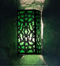 Furncoms Green Metal Wall Light - 1596687