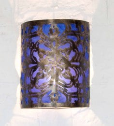 Furncoms Purple Metal Wall Light - 1596686