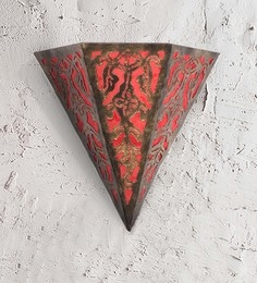 Furncoms Red Metal Wall Light