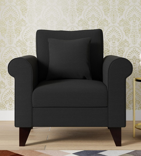 1 Seater Sofa In Charcoal Grey Colour