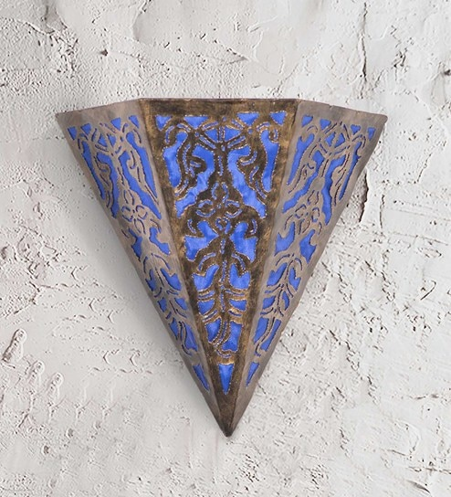 Furncoms Blue Metal Wall Light
