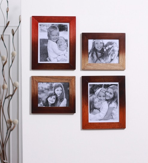 Buy Multicolour Mango Wood Photo Frames - Set of 4 by Furnicheer ...