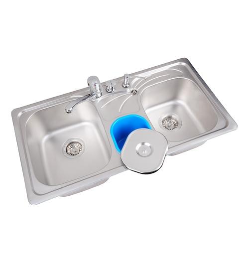 Futura Stainless Steel Triple Bowl Kitchen Sink  FS 222