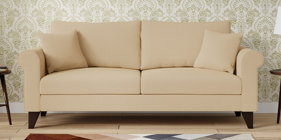Fabulous Fuego 3 Seater Sofa In Beige Colour By Casacraft Forskolin Free Trial Chair Design Images Forskolin Free Trialorg