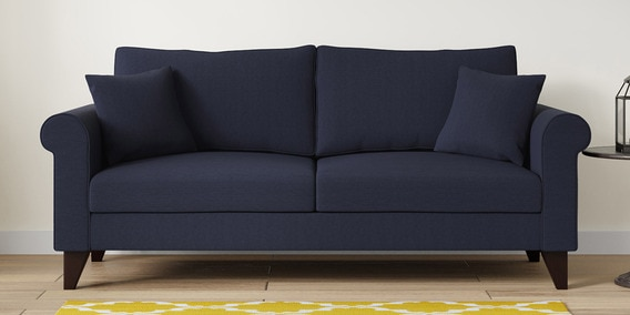 Fuego 3 Seater Sofa in Navy Blue Colour by CasaCraft