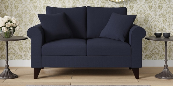 Fuego 2 Seater Sofa In Navy Blue Colour By Casacraft