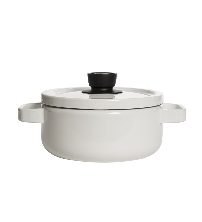 Fujihoro 3000 ML Casserole With Lid - White