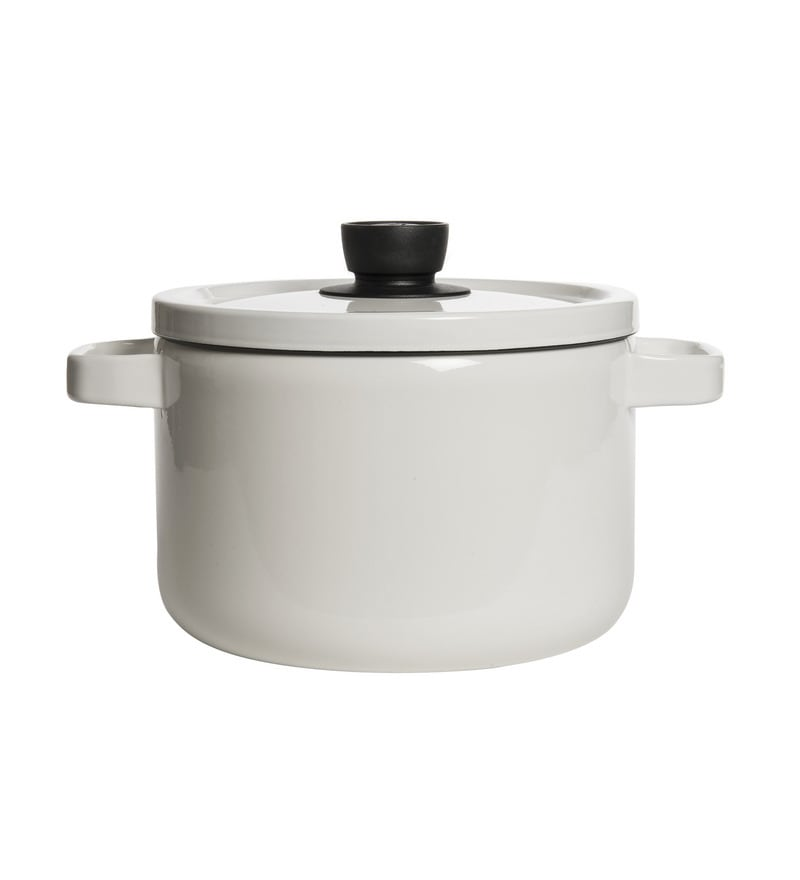 Fujihoro 5600 ML Deep Casserole With Lid - White